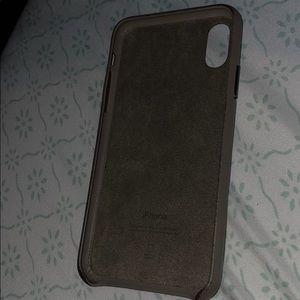 Apple X leather case